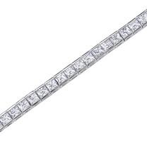 Princess Cut White CZ Gemstone Tennis Bracelet in Sterling Silver Style sb2688