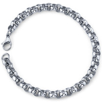 Cool and Classy: Mens Stainless Steel Rolo Link Bracelet Style SB3882