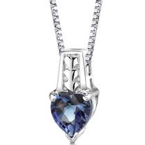 Sterling Silver Heart Shape Cut Alexandrite Pendant Style SP8390