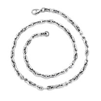 Classic Mens High Polished Stainless Steel Link Necklace Style SN8474