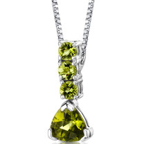 Sterling Silver 2.75 Carats Peridot Pendant Style SP8696