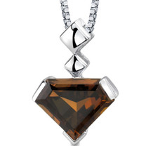 Superman Cut 6.25 Carats Smoky Quartz Sterling Silver Pendant And Style SP8822