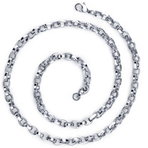 Effortless Flair: Mens Stainless Steel Belcher Link 20 InchChain Necklace Style SN8902