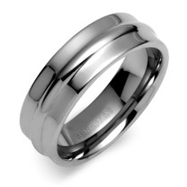 Center Raised 8mm Comfort Fit Mens Tungsten Carbide Ring Size 13 Style SR9398