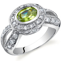 Majestic Brilliance 0.75 carats Peridot Sterling Silver Ring in Sizes 5 to 9 Style SR9754