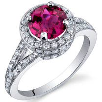 Majestic Sensation 1.75 Carats Ruby Sterling Silver Ring in Sizes 5 to 9 Style SR9878