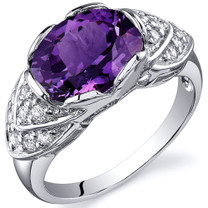 Classy Brilliance 3.50 carats Alexandrite Cocktail Sterling Silver Ring in Size 5 to 9 Style SR10152