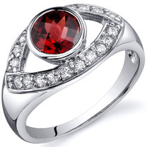 Captivating Curves 1.00 carats Garnet Sterling Silver Ring in Sizes 5 to 9 Style SR10192