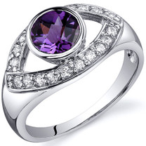 Captivating Curves 1.00 carats Alexandrite Sterling Silver Ring in Sizes 5 to 9 Style SR10206
