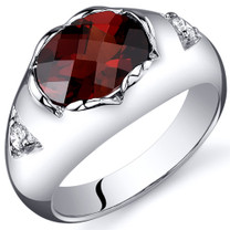 Oval Cut 2.25 carats Garnet Sterling Silver Ring in Sizes 5 to 9 Style SR10390