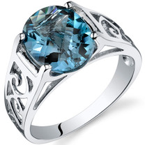 2.75 carats London Blue Topaz Solitiare Sterling Silver Ring in Sizes 5 to 9 Style SR10414
