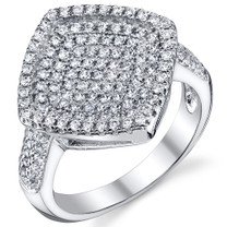 Dazzling Micro Pave CZ Sterling Silver Ring Available Sizes 5 to 9 Style SR10788