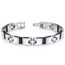 Mens Smooth Class Mirror Finish Stainless Steel Bracelet Style SB4276