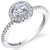 Sterling Silver Round White Cubic Zirconia Ring SR10988