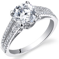 Sterling Silver Round White Cubic Zirconia Ring SR10994