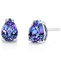 14 kt White Gold Pear Shape 1.75 ct Alexandrite Earrings E18568