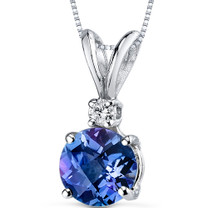14 kt White Gold Round Cut 1.50 ct Alexandrite Pendant P8982