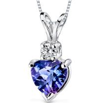 14 kt White Gold Heart Shape 1.00 ct Alexandrite Pendant P9008