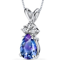 14 kt White Gold Pear Shape 1.00 ct Alexandrite Pendant P9060