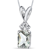 14 kt White Gold Radiant Cut 1.00 ct Amethyst Pendant P9074