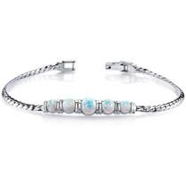 Opal Bracelet Sterling Silver 5 Stone Design 3.75 Cts SB4334