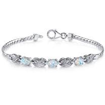 Opal Bracelet Sterling Silver Oval Cabochon 1.25 Cts SB4336