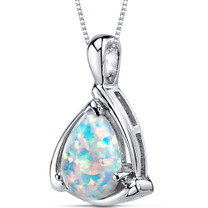 Opal Pendant Necklace Sterling Silver Pear Shape 1.50 Cts SP10970