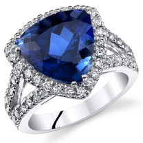 6.00 Cts Blue Sapphire Ring In Sterling Silver Sizes 5 to 9 SR11042