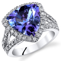 5.00 Cts Alexandrite Sterling Silver Ring Sizes 5 to 9 SR11046