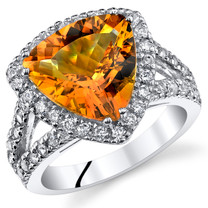 3.75 Cts Citrine Sterling Silver Ring Sizes 5 to 9 SR11048