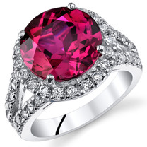 6.75 Cts Ruby Sterling Silver Ring Sizes 5 to 9 SR11068