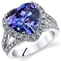 5.00 Cts Alexandrite Sterling Silver Ring Sizes 5 to 9 SR11076