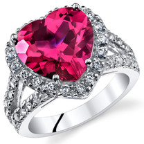 6.25 Cts Ruby Sterling Silver Ring Sizes 5 to 9 SR11080