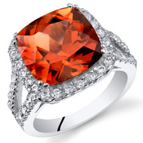 7.50 Cts Padparadscha Sapphire Sterling Silver Ring SR11098