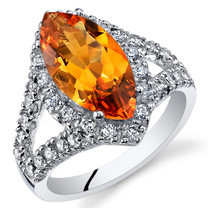 2.00 Cts Citrine Sterling Silver Ring Sizes 5 to 9 SR11108
