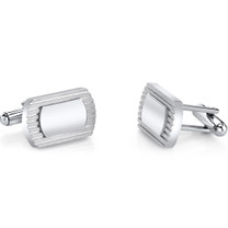 ID Style Lined Stainless Steel Cufflinks SC1076