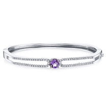 Amethyst Solaris Bangle Bracelet Sterling Silver 0.75 Carats SB4408