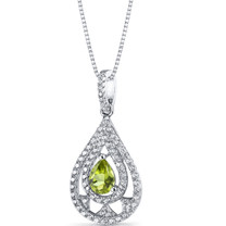Peridot Chandelier Pendant Necklace Sterling Silver 0.75 Carats SP11270