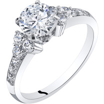 14K White Gold Classic Style Engagement Ring Sizes 4-10