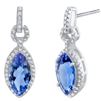 Simulated Tanzanite Sterling Silver Marquise Royal Earrings