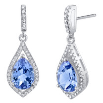 Simulated Tanzanite Sterling Silver Tear Drop Eden Earrings