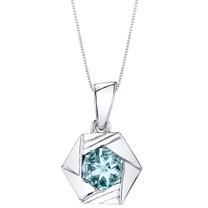 Aquamarine Sterling Silver Cirque Pendant Necklace