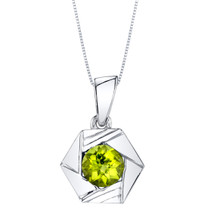 Peridot Sterling Silver Cirque Pendant Necklace