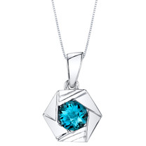 London Blue Topaz Sterling Silver Cirque Pendant Necklace