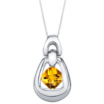 Citrine Sterling Silver Sungate Pendant Necklace