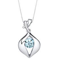 Aquamarine Sterling Silver Venus Pendant Necklace