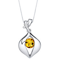Citrine Sterling Silver Venus Pendant Necklace