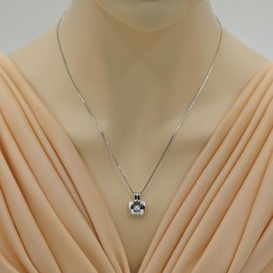 Aquamarine Sterling Silver Starship Pendant Necklace