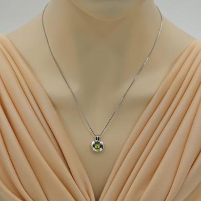 Peridot Sterling Silver Starship Pendant Necklace