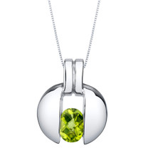 Peridot Sterling Silver Starship Pendant Necklace